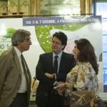 Gaspare Borsellino, giornalista e co-organizzatore, e la giornalista Anna La Rosa